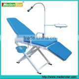 Hot sale Portable dental chair with operating light,spitton& instrument tray