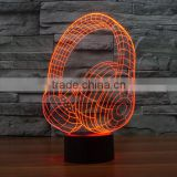 New holiday gift decorative touch bedside table lights amazing Headset childrens touch lamp acrylic 3D LED colorful night light