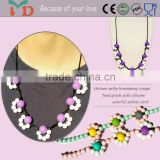 Wholesale different colors Kids chunky bubblegum necklace