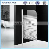 bathroom shower made in china 4/5mm serigraph ,aluminum shower enclosure/shower screen/bathtub panel