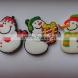 Three Sets Cute Winter Gifts Snow Man Rubber Fridge Magnets