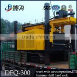 DFQ-300 Pneumatic Crawler Rock Drilling Rig/ 300m Deep Drilling Rig with Hammer