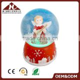 100mm angel musical snow globe for Christmas with led light                                                                                                         Supplier's Choice