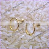 Fashion Design High Polish Gold Titanium Anodized Stainless Steel Cartilage Earring Tragus [AP-960A]