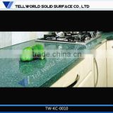 Tell World prefab Modern artificial marble countertop affordable modern kitchen cabinets