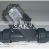 Plastic Y type pipeline filter piping filtration device strainer