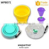 Portable Plastic Lid Collapsible Silicone Cup Cheap On Sale                                                                         Quality Choice