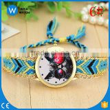 PW040 Limited Edition Braid Strap fashion Lady Watch Cat glasses dial watches