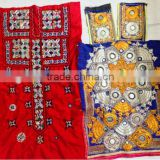 Gorgeous colorful lively Hand embroidered mirror work tunic dress Indian Banjara embroidery