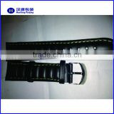 20mm Black Leather Mens Replacement Watch Band Straps