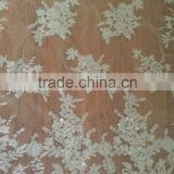 White Cord French Lace Fabric From Trade Assurance Factory