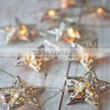 Christmas Metal Star decorations lighting string Fairy Lights LED christmas light