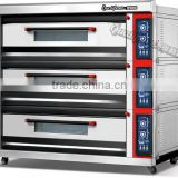 Cost effective!!! High Performance!!!! 3 layers 12 trays pizza oven bread oven bakery gas deck oven