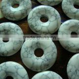 19*4mm synthetic howlite turquoise donut shaped pendant