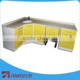L large size corner place Professional AM-09-1 dental metal cabinet hospital clinic use furniture