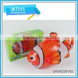 Battery operated bump&go inflatable fish with light and music