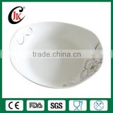 Wholesale boat shaped restaurant ceramic plate