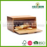 new products high quality hot selling bamboo bread box,bread bin storage box, food storage box wholesale
