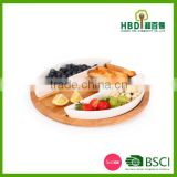 Bamboo chip and dip tray,wooden serving tray,bamboo trays