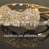 Rhinestone bow bracelet for girls,wholesale wedding accessoriesFCM-30028
