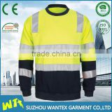 ANSI/ISEA High Visibility Protective crew neck Sweatshirt manufacturer Conforms to EN471 Class3