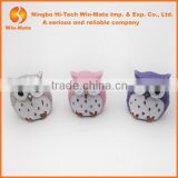 2.5g Animal Cap Cute Pertroleum Free Baby Kits Pink Purple Silvery Owl Lip Balm