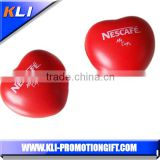 Promotional lovely gift PU foam anti stress toy pu heart shaped stress ball