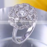 CZ jewellery Cubic Zirconia Engagement Wedding Ring Design for Women Latest Fashion silver Jewelry