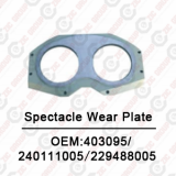 Spectacle Wear Plate OEM:403095/240111005/229488005 For Putzmeister Concrete Pump Spare Parts