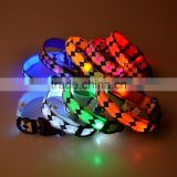 Rhombus printing led flashing lights dog collar