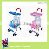 Electric folding baby stroller with music