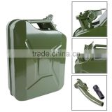 5 Gallon Jerry Can Gas Fuel Steel Green NATO Style 20L Storage Tank w/Spout