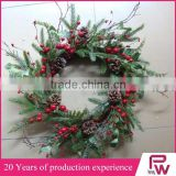 bulk buy christmas decorations artificial red berries christmas wreath for christmas market