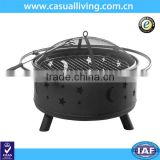 Factory making 28 Inch Round Black Patio Outdoor New Best selling charcoal steel fire pit BBQ