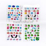 High quality Puffy Stick On Stickers,Peel Off fruit Sticker