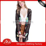 Wholesale poncho patterns knitting color combination womens cardigan sweater from shantou
