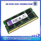 8gb ram memory laptop ddr3 1600mhz pc3-12800 in stock