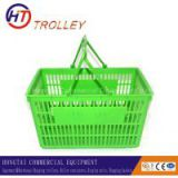 plastic retail shopping baskets with double handle in various colors