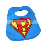 large size 24*33cm super hero two layers waterpoof baby bibs baby drool