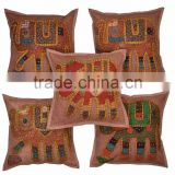 Indian Elephant Hand made Print Cushion Covers