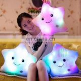 HI CE plush toy star with LED light colorful flash for Valentine day gift birthday party