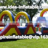PVC tarpaulin inflatable obstacle course assault course races for sale ID-OB046