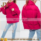 Winter Wears Girl's Jackets Pink Padded Jackets with Tie-neck Wholesale Winter Jackets Apparel Companies