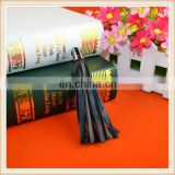 10cm custom black color PU fringe leather tassel for girl dresses/keyring/bag/boots decoration