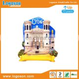 Customised France Lyon Tourist Souvenir Resin Fridge Magnet