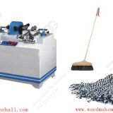 Automatic broom handle making machine manufacturer wood round stick making machine