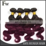 European hair virgin human two tone or 3 tone ombre colored hair weave bundles ombre human hair bundles