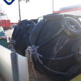 Ship Floating Pneumatic Rubber Fender with Chain Tyre Net