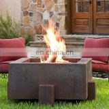 Large Vintage Corten Steel Fire Pit Outdoor Use/square cast propane fire pit
