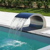 Outdoor swimming pool waterfall fountain garden waterfall stainless steel waterfall